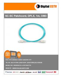 SC-SC Patchcord, DPLX, 1m, OM3