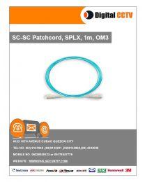 SC-SC Patchcord, SPLX, 1m, OM3