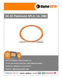 SC-SC Patchcord, SPLX, 1m, OM2