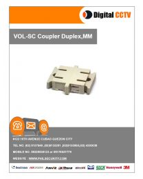 SC Coupler Duplex, MM