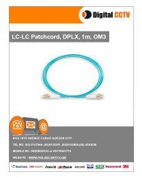 LC-LC Patchcord, DPLX, 1m, OM3