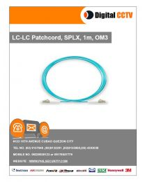 LC-LC Patchcord, SPLX, 1m, OM3