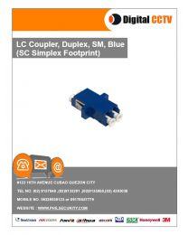 LC Coupler Duplex, SM, Blue (SC SX Footprint)