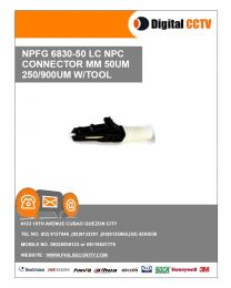6830-50 NPFG LC NPC Connector MM 50UM 250/900UM w/ Tool