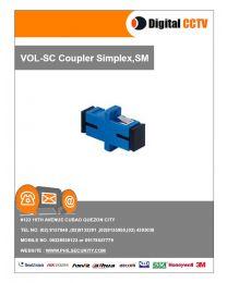 SC Coupler Simplex, SM